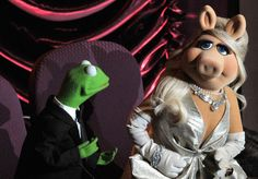 Kermit and Miss Piggy at the Oscars.