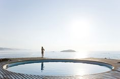 Another view of the best pool - Architectural photographer Iwan Baan recently shot the Observatory House, designed by Mexican artist Gabriel Orozco and built by architect Tatiana Bilbao in Roca Blanca, Mexico.