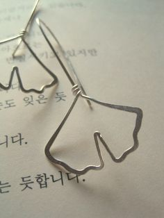 Gingko Leaf Earrings by maryandjane
