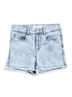 Acid-Wash Denim Shorts at Guess Acid Wash Shorts, Guess Girl, Denim Cutoff Shorts, Coca Cola, Outfits, Clothes, Vsco, Products, Fashion