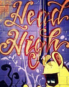 Head high.  #streetphotography #justgoshoot #graffiti #streetart #lovetoronto #streetarteverywhere #downtown #explore #streetartistry #urbanwalls #graffitiporn #graffitiart #instagraffiti #wordart #torontolife #toronto #concretejungle #high #building #brick #highlife #highasfuck #hightimes #ganja #weedstagram #wordporn #wordoftheday #smokeweed #smokeweedeveryday #blazeit by duchessanddragons