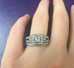 A personal favorite from my Etsy shop https://www.etsy.com/listing/504096069/110-carat-diamond-wedding-set-engagement