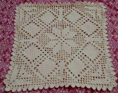 Crochet Cushions, Crochet Tablecloth, Crochet Pillow, Crochet Doilies, Crochet Baby, Crochet Potholder Patterns, Crochet Basket Pattern, Crochet Diagram, Filet Crochet