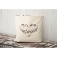 CLEARANCE LOVE Languages Tote Bag ($15) ❤ liked on Polyvore featuring bags, handbags and tote bags