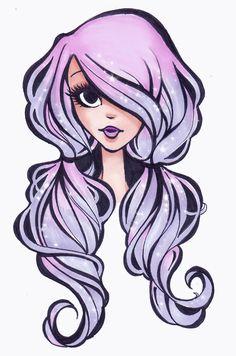 sparkly hair