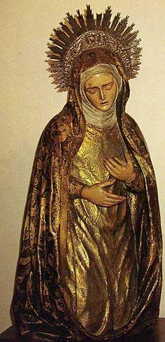 Dolorosa  del siglo XVII Convento Ntra Sra de la Salud (Minimas en Triana )