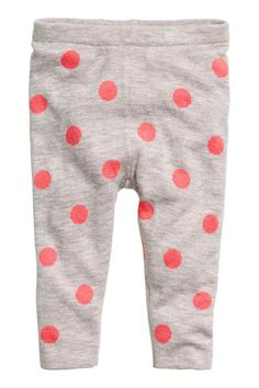 Fine-knit leggings: Leggings in a soft, fine knit with a knitted pattern and…
