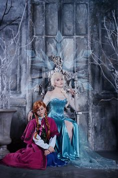 Anna and Elsa Elsa by Anastasia Lion Anna by Verrett Photo by Vasiliel