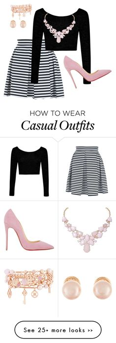"""Business Casual"" by dulce-n-rodriguez on Polyvore featuring Jane Norman, Boohoo, Christian Louboutin, Henri Bendel, Kenneth Jay Lane and Humble Chic"