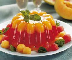 Aspic di anguria e melone