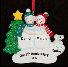 Anniversary Glass Ball Christmas Ornament  Anniversaries