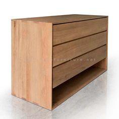 Lemari 3 Laci Minimalis Jati   Indo Furniture