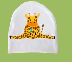 Giraffe Baby Cap an Original Design by by ChiTownBoutique on Etsy, $6.00