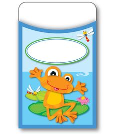 FUNky Frogs Library Pockets (CD-121010) #classroom #decor #AILtyler