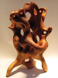 Mike Medow  Organic Sculpture   Hand Carved Woodwork  H 21in x W 13in x D 13in