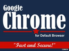 With all the political campaigning going on, it can make you sick.  Googler, Greg Simon, created a funny political sign for Google Chrome. Matt Cutts of Google shared it on Google+ for all to see.