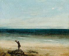 Gustave Courbet, Le Bord de mer à Palavas ou L'Artiste devant la mer, 1854, Huile sur toile, 37 × 46 cm.