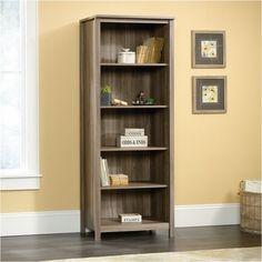 Sauder County Line 5 Shelf Bookcase in Salt Oak
