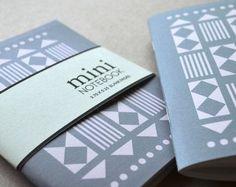 Mini Notebook, Pocket Notebook - Geometric Blocks