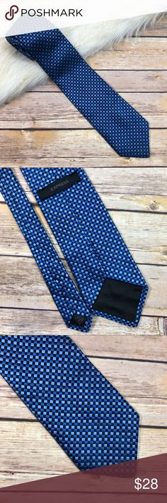"""EXPRESS Necktie Blue Black Diamond Pattern Silk Express Mens Necktie  100% Italian Silk Blue and Black Diamond Pattern Approximately 59"""" end to end Nice condition  Smoke free home Express Accessories Ties"""