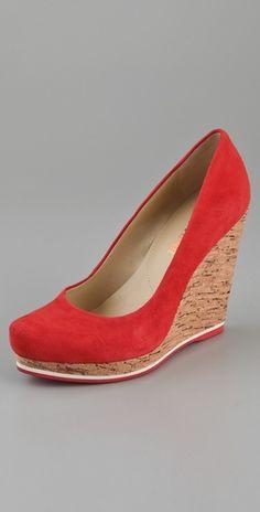 Luxury Rebel Shoes  Selma Cork Wedge Pumps