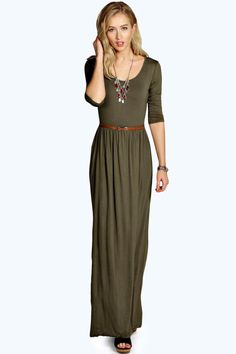 77832f13f44 Sophia Scoop Neck Elasticated Waist Maxi Dress Long Sleeve Maxi