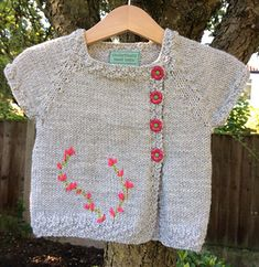 Variation of Little Miss X--notice the short row shaping at the top of the sleeves before the increases begin.