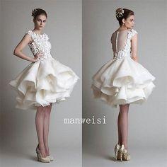Vestidos para boda blanco marfil con espalda transparente a la Rodilla Sin Mangas Baile Vestido Personalizado | Ropa, calzado y accesorios, Ropa de boda y formal, Vestidos de novia | eBay!