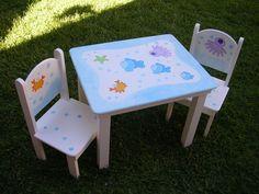 Mesa y sillas para niños - Imagui