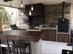 Outdoor Kitchen Design, Home, Backyard Landscaping Designs, Outdoor Kitchen, Custom Homes, Kitchen Design, Outdoor Cooking Spaces, Rustic Outdoor Decor, Patio Design