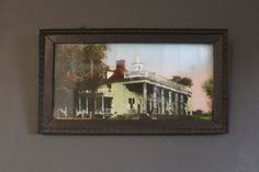 Vintage Reverse Painting of Mt. Vernon Framed by MadGirlRetro