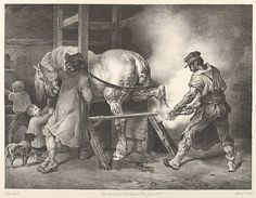 "Théodore Gericault (French, 1791–1824). The Flemish Farrier, 1822. The Metropolitan Museum of Art, New York. Rogers Fund, 1920 (20.17.9) | This work is on view in ""Drawings and Prints: Selections from the Permanent Collection"" on view through December 8, 2014."
