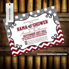 University Of Alabama Baby Shower Invitation By Notsopinkdesigns 15 00