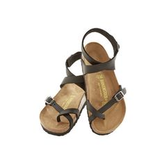 Birkenstock Boho Italian Summer Sandal ($120) ❤ liked on Polyvore featuring shoes, sandals, flats, black, slingback, thong slingback, strappy sandals, flat pumps, black sandals and black flat sandals