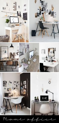 Inspiration: home office -- love the idea of the large stripe of black... but maybe behind the desk to ground it