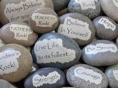 Image result for rocks with inspirational messages