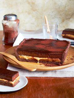 Tarte chocolat caramel (confiture de lait) - Schokoladen-Karamell-Tarte mit flüssigem Kern - we LOVE!