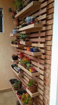 DIY Garden Decorating Ideas on a Budget - Wooden Planter Boxes : wall planter boxes Garden Diy On A Budget, Diy Garden, Garden Ideas, Backyard Ideas, Herb Garden Pallet, Brick Garden, Patio Ideas, Garden Plants, Diy Wooden Planters