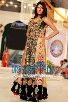 Olive Beige Seapia, Product code: DR9080, by www.dressrepublic.com - Keywords: Pakistani, Indian Bridal Lehenga Shops Glandale, Burbank, Pasadena, California USA