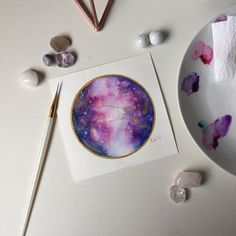 Aries constellation ♈️ In a watercolor galaxy  By artist Kari Weatherbee
