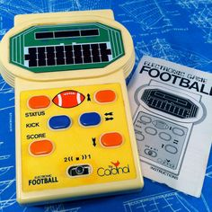 Electronic Football Hand Held Video Game with Instructions by Cardinal Industries Football Video Games, Handheld Video Games, Vintage Video Games, Electronic Toys, Story Video, Made Video, Gaming Computer, Games For Kids, Golden Age