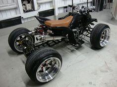 ATV for city slickers Yamaha Raptor, Custom Trikes, Quad Bike, Four Wheelers, Mini Bike, Street Bikes, Go Kart, Bike Life, Cool Bikes