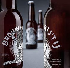 cerveza - brouwerijt ij ipa (diseño inspirado en tatuajes)