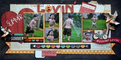 Summer Lovin' Using Simple Stories I {Heart} Summer collection and photos of my adorable grandson!