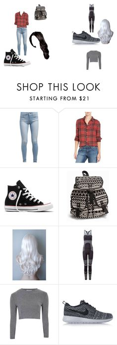 """every day vs ghost girl suit"" by explorer-14484921021 on Polyvore featuring Levi's, Joe's, Converse, NLY Accessories, adidas, Glamorous and NIKE"