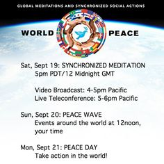 CHECK OUT THIS WORLD PEACE DAY