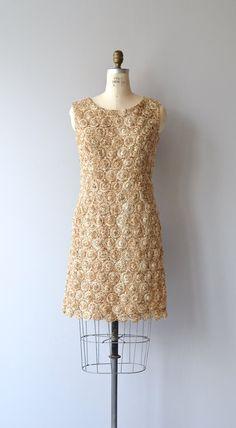 Raffia Ribbon dress vintage 1960s dress woven 60s by DearGolden