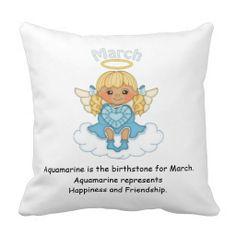 March Birthstone Angel Blonde Pillows  http://www.zazzle.com/march_birthstone_angel_blonde_pillows-189864310518864738?rf=238631258595245556