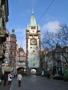 Freiburg, Germany - town gate - We enjoyed a short visit to Freiburg after we left the Black Forest.