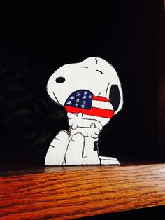 Patriotic Snoopy 4th of July decor Star spangled by tbacrafts, $12.50